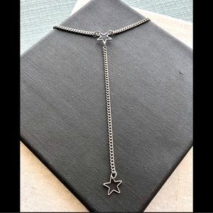 925 Lariat Star Necklace